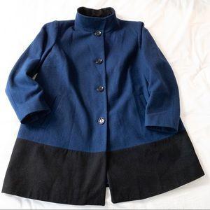MICHAEL Michael Kors Colour Block Pea Coat - Sz 1X
